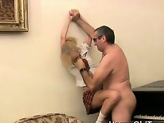Hot blonde bitch gets aroused for some
